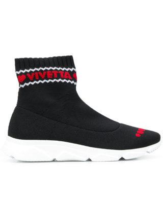 Vivetta intarsia sock sneakers (zwart)