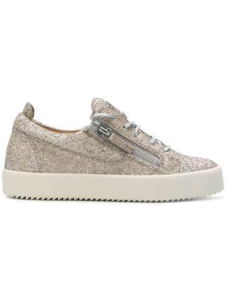 Giuseppe Zanotti Design Cheryl glitter sneakers - Metallic