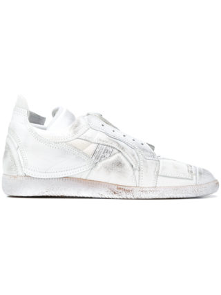 Maison Margiela distressed low-top sneakers (wit)