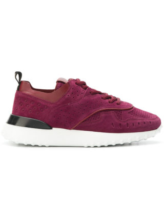 Tod's futuristic lace up sneakers (rood)