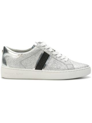 Michael Michael Kors Keaton striped glitter sneakers - Metallic