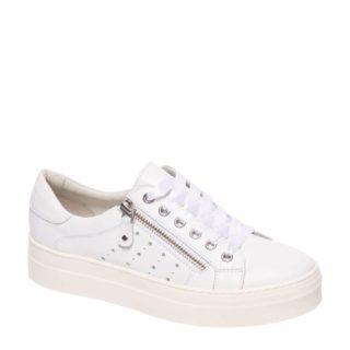 vanHaren – 5th Avenue leren sneakers (wit)