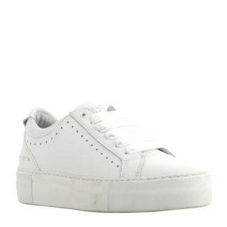 Red Rag leren sneakers (wit)
