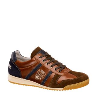 Venture by Camp David leren sneakers met strepen (bruin)
