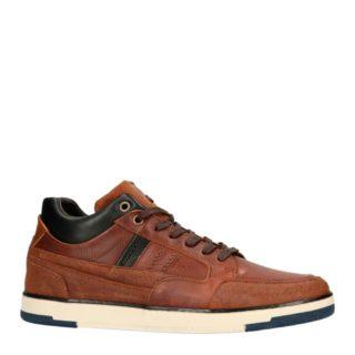 No Stress leren sneakers cognac (bruin)