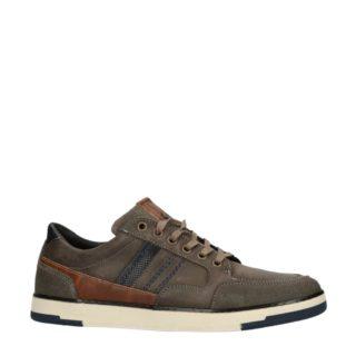 No Stress leren sneakers met strepen grijs (grijs)