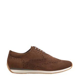 Mango Man suède sneakers donkerbruin (bruin)