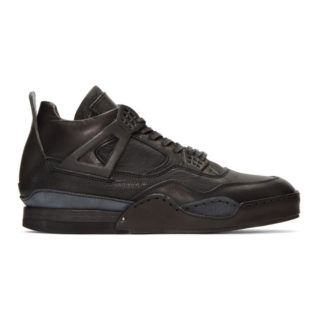 Hender Scheme Black Manual Industrial Products 10 High-Top Sneakers
