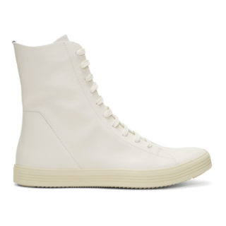 Rick Owens Off-White Mastodon High-Top Sneakers