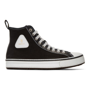 R13 Black Canvas High-Top Sneakers