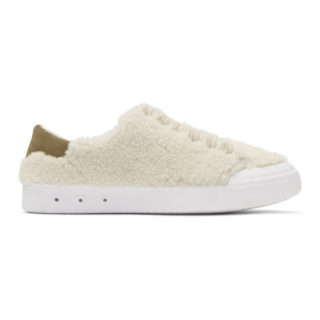 Rag and Bone Ivory Shearling Standard Issue Sneakers