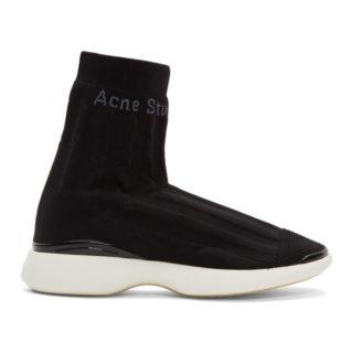 Acne Studios Black Batilda As Sock High-Top Sneakers