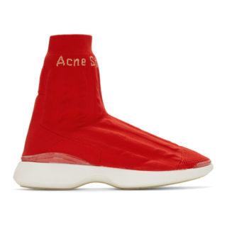 Acne Studios Orange Batilda Sock High-Top Sneakers
