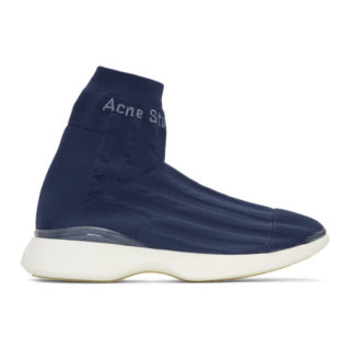 Acne Studios Blue Tristian High-Top Sneakers