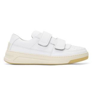 Acne Studios White Pete Strap Sneakers