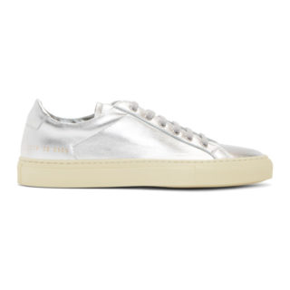 Common Projects Silver Achilles Retro Low Sneakers