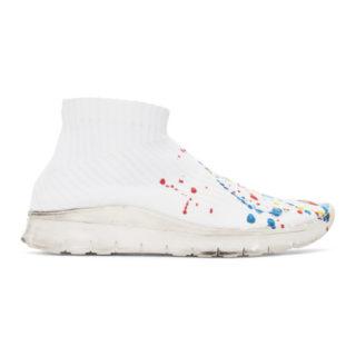 Maison Margiela White Paint Splatter Sock Sneakers