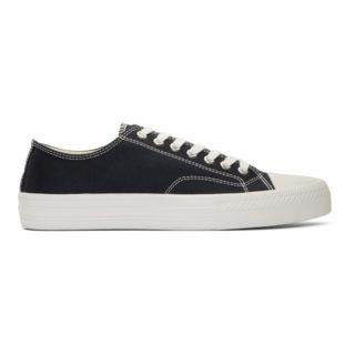 Junya Watanabe Navy Twill Sneakers