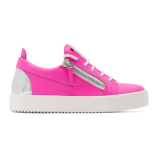 Giuseppe Zanotti Pink and Silver Neon May London Sneakers