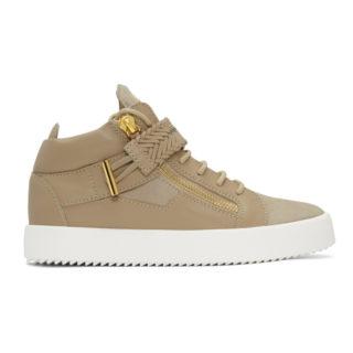 Giuseppe Zanotti Beige May London High-Top Sneakers