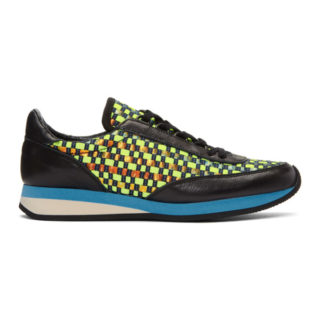 Comme des Garcons Shirt Green Woven Hologram Sneakers