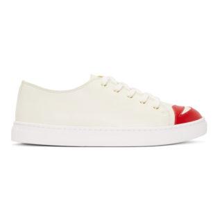 Charlotte Olympia White Kiss Me Sneakers