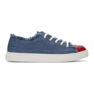 Charlotte Olympia Blue Denim Kiss Me Sneakers