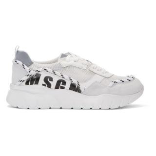 MSGM White Running Sneakers