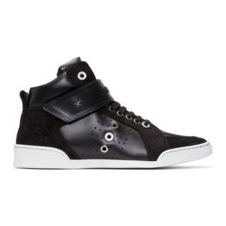 Jimmy Choo Black Lewis High-Top Sneakers