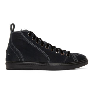 Jimmy Choo Grey Velvet Colt High-Top Sneakers