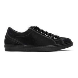 Jimmy Choo Grey Velvet Cash Sneakers