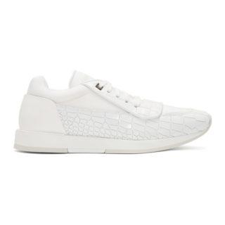 Jimmy Choo White Croc Jett Sport Sneakers