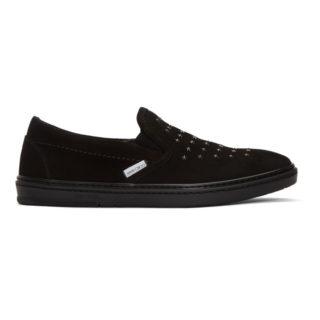 Jimmy Choo Black Suede Grove Mini Star Sneakers