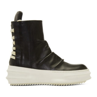 D.Gnak by Kang.D Black Back String High-Top Sneakers