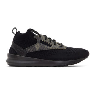 Marcelo Burlon County of Milan Black Reebok Classics Edition Zoku Runner Utlk Sneakers