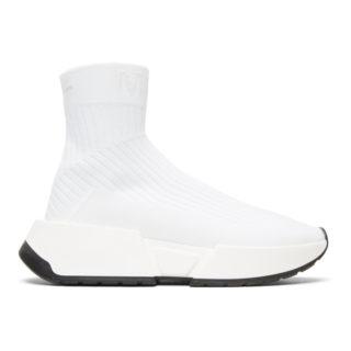 MM6 Maison Martin Margiela White Sock High-Top Sneakers