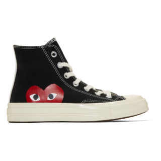 Comme des Garcons Play Black Converse Edition Chuck Taylor All-Star 70 High-Top Sneakers