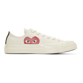 Comme des Garcons Play Off-White Converse Edition Chuck Taylor All-Star 70 Sneakers