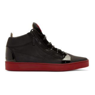 Giuseppe Zanotti Black and Red Brek Sneakers
