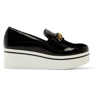 Stella McCartney Black Binx Chain Platform Sneakers