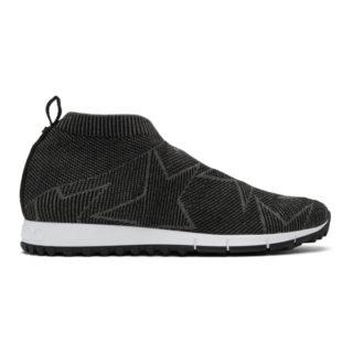Jimmy Choo Black and Grey Norway/M Sneakers
