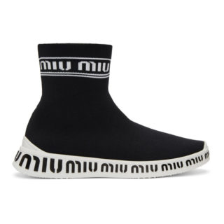 Miu Miu Black Sock Sneakers