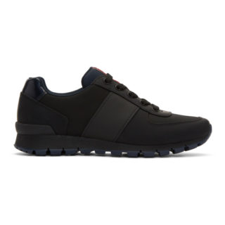 Prada Black and Blue Match Rays Sneakers