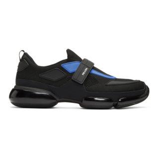 Prada Black and Blue Sport Sneakers
