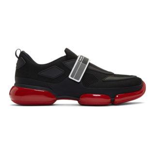 Prada Black and Red Cloudbust Sneakers