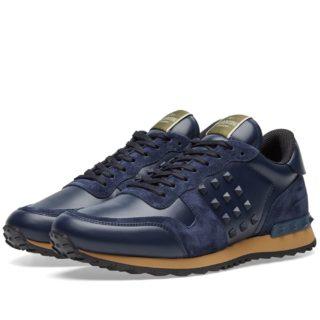 Valentino Tonal Rockrunner Sneaker (Blue)