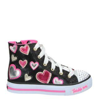 Skechers Twinkle Toes hoge sneakers zwart