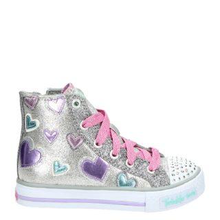Skechers Twinkle Toes hoge sneakers zilver