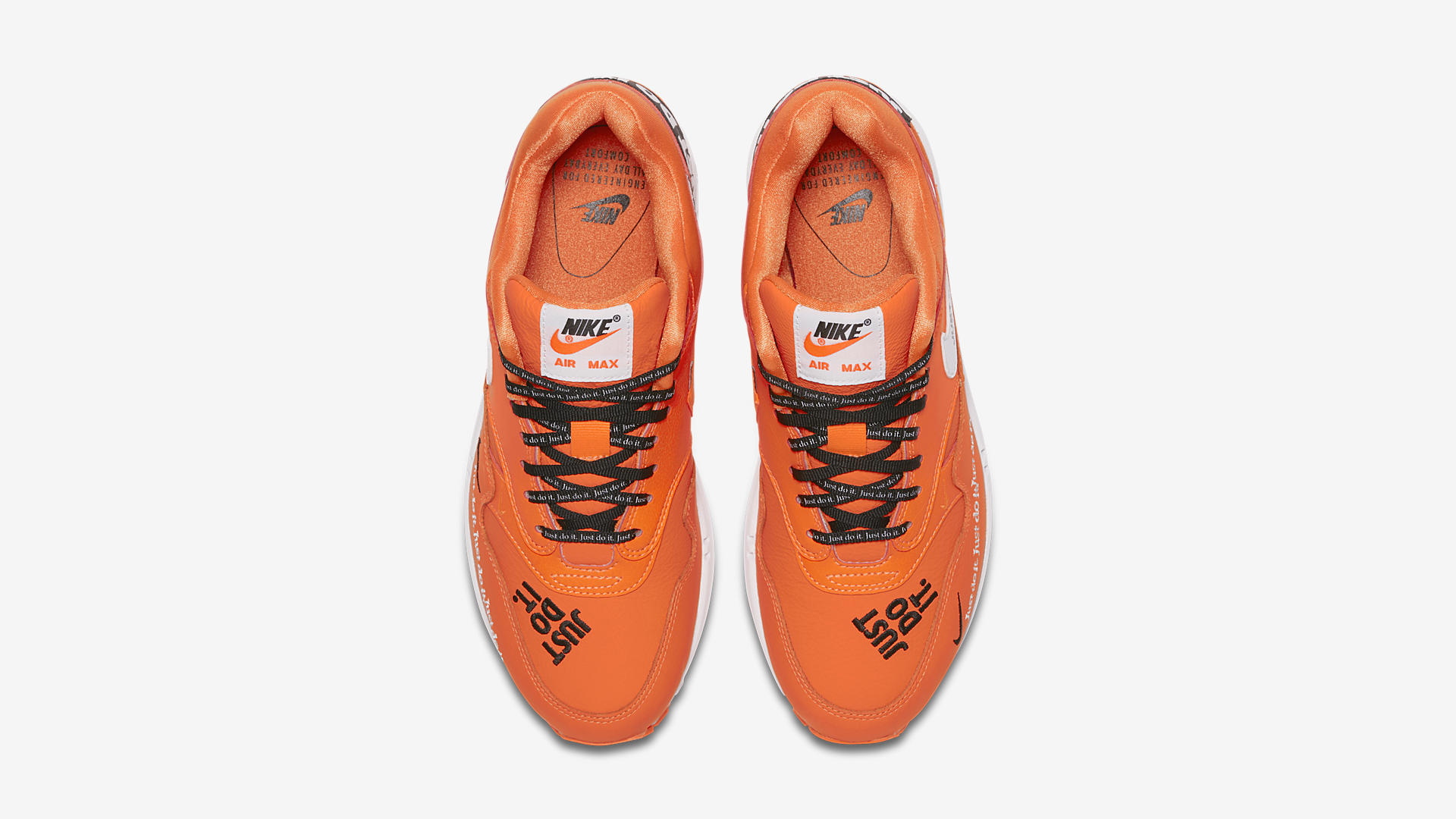 Nike Air Max 1 LX JDI Total Orange/Wit/Zwart (917691-800)
