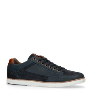 No Stress nubuck sneakers met suède (blauw)